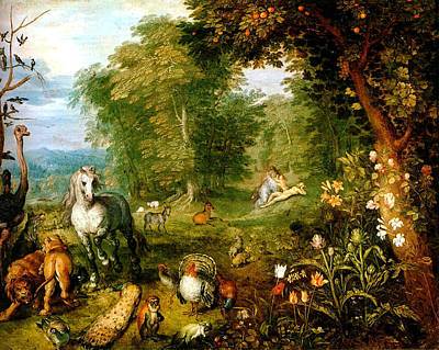 Mountain Goat Digital Art - Das Paradies by Jan Bruegel
