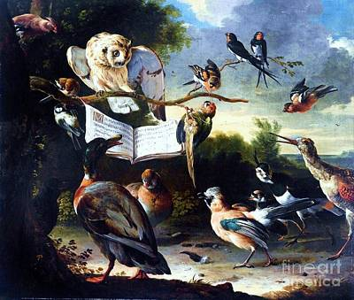 Fauna Painting - Das Vogelkonzert by Pg Reproductions