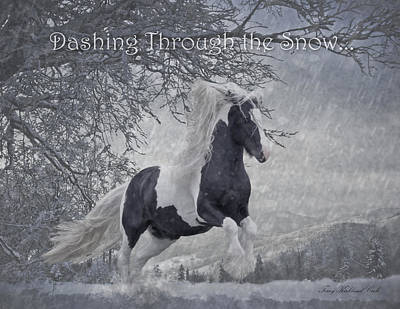 Gypsy Digital Art - Dashing Through The Snow by Terry Kirkland Cook
