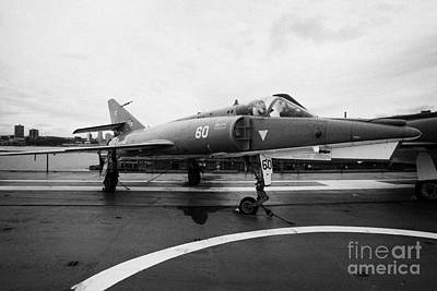 Dassault Etendard Iv M Ivm On Display On The Flight Deck At The Intrepid Sea Air Space Museum Usa Art Print by Joe Fox