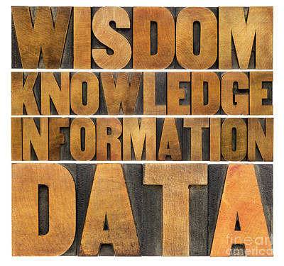 Data Information Knowledge And Wisdom Art Print