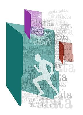 Data Protection Conceptual Artwork Art Print by Victor Habbick Visions
