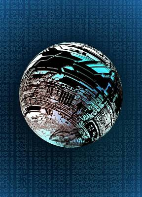Data Photograph - Data Sphere by Victor Habbick Visions