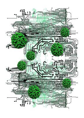 Data Photograph - Data Virus by Victor Habbick Visions