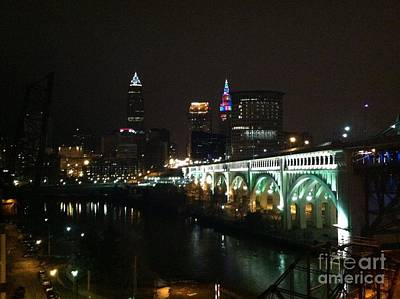 Photograph - Date Night In Cleveland - From His Window by LCS Art
