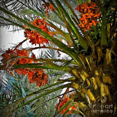Painting - Date Palm by Walt Foegelle
