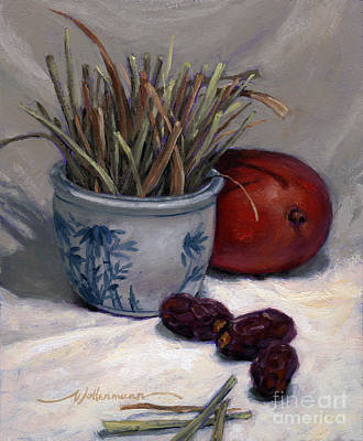 Painting - Dates Lemongrass And Mango by Randy Wollenmann