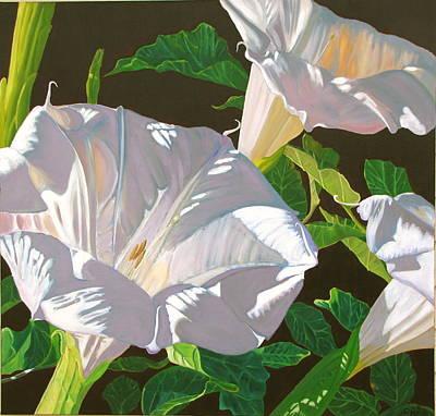 Datura Painting - Datura The Lowly Jimson Weed by Dave Barnett