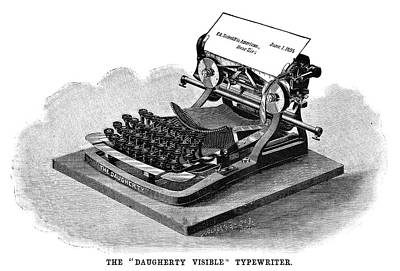 Typewriter Painting - Daugherty Typewriter, 1895 by Granger