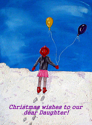Painting - Daughter Christmas by Sandy Wager