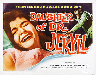 1957 Movies Photograph - Daughter Of Dr. Jekyll, Us Lobbycard by Everett