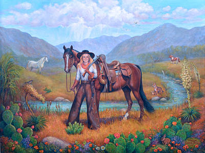 Cowgirl Painting - Daughter Of The Wilderness by Marilyn Shanto Stubbs