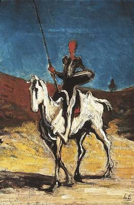 Daumier, Honor� 1808-1879. Don Quixote Art Print by Everett