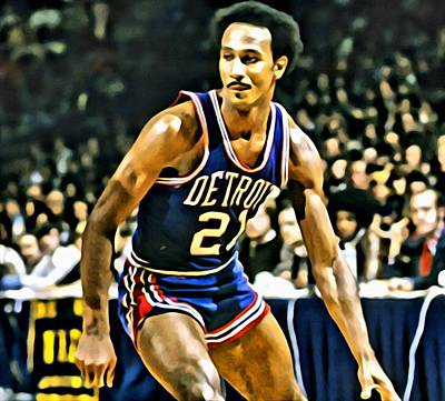 Dave Painting - Dave Bing by Florian Rodarte