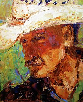 Arizona Cowboy Artist Painting - Dave by Brian Simons