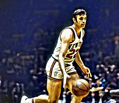 Knicks Painting - Dave Debusschere by Florian Rodarte