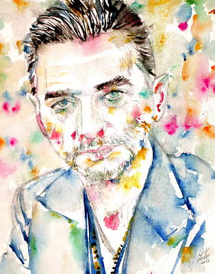 Mode Painting - Dave Gahan - Watercolor Portrait by Fabrizio Cassetta