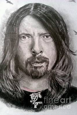 Dave Drawing - Dave Grohl by Brian Horsley