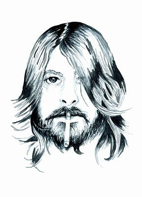 Foo Fighters Painting - Dave Grohl by Bridget Davidson