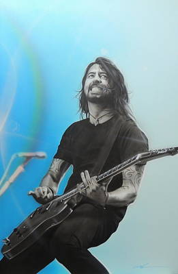 Nirvana Painting - ' Dave Grohl ' by Christian Chapman Art