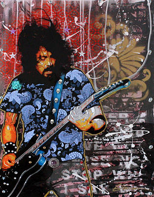 Graffitti Painting - Dave Grohl by Gary Kroman