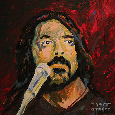 Music Paintings - Dave Grohl Portrait by Robert Yaeger