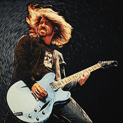 Vulture Digital Art - Dave Grohl by Taylan Apukovska