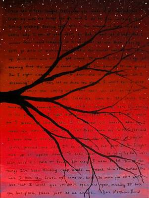 Dave Matthews Band Painting - Dave Matthews Band Crush Lyric Art - Red by Michelle Eshleman