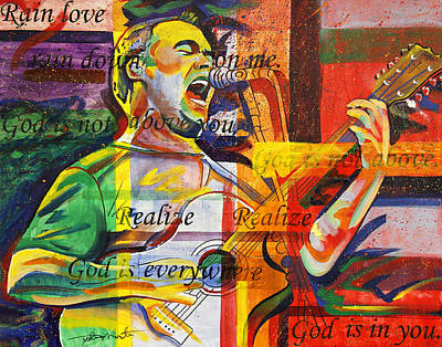 Lyrics Wall Art - Painting - Dave Matthews-bartender by Joshua Morton