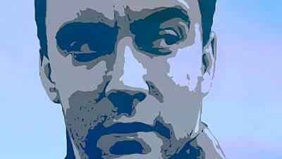 Musicians Mixed Media - Dave Matthews Blue by Dan Sproul