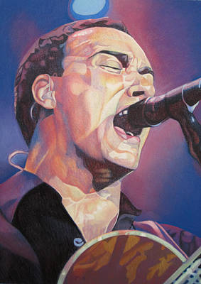 Musician Drawing - Dave Matthews Colorful Full Band Series by Joshua Morton