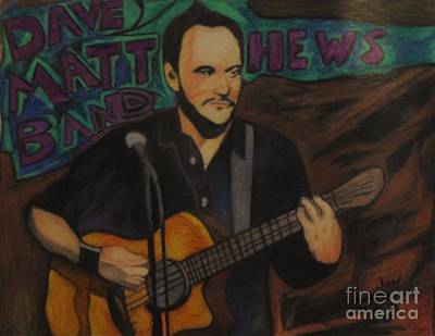 Dave Drawing - Dave Matthews by Jon Kittleson