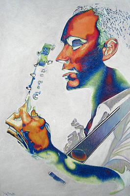 The Dave Matthews Band Drawing - Dave Matthews by Joshua Morton