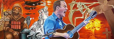 Dave Matthews Band Painting - Dave Matthews The Last Stop by Joshua Morton