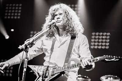 Dave Mustaine Photograph - Dave Mustain From Megadeth. Live 2012 by Lidia Sharapova
