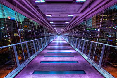 Kaleidoscope Photograph - Davenport Skybridge by Tom Weisbrook