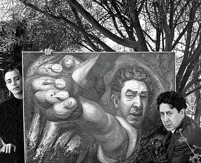 David Alfaro Siqueiros And Angelica Arenal De Art Print by Horst P. Horst
