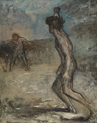 Youth Painting - David And Goliath, C.1857 by Edgar Degas