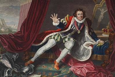 Hunchback Drawing - David As Richard IIi, Illustration by William Hogarth