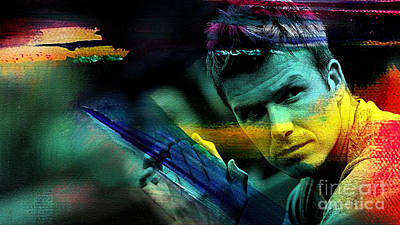 Soccer Mixed Media - David Beckham by Marvin Blaine