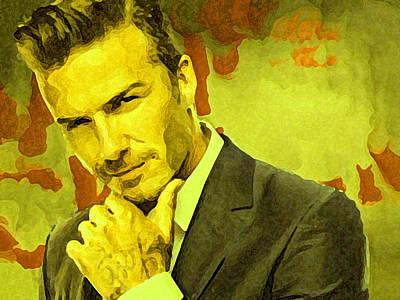 David Beckham Wall Art - Painting - David Beckham Painting by Parvez Sayed
