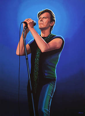 Hero Painting - David Bowie 2 Painting by Paul Meijering