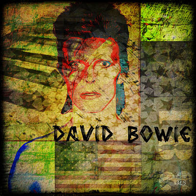 40th Anniversary Digital Art - David Bowie by Absinthe Art By Michelle LeAnn Scott