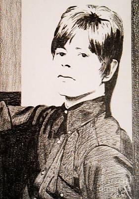 Drawing - David Bowie by Bonnie Cushman