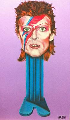 Drawing - David Bowie by Brent Andrew Doty