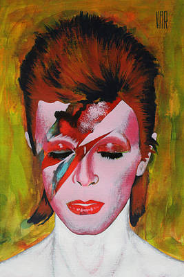 People Mixed Media - David Bowie by Dan Haraga