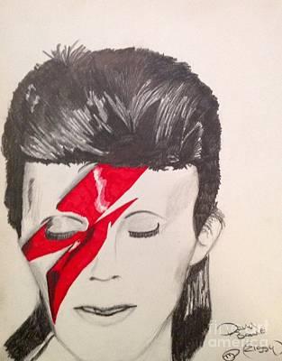 Ziggy Stardust Drawing - David Bowie by Manon Zemanek