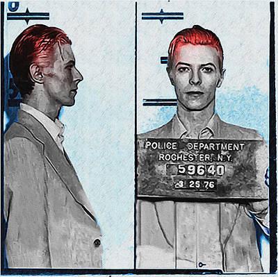 David Bowie Mug Shot Art Print