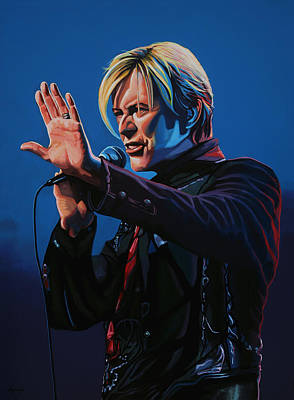 David Bowie Painting Print by Paul Meijering