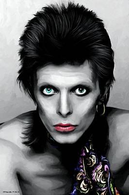 Digital Art - David Bowie The Chameleon by Gabriel T Toro